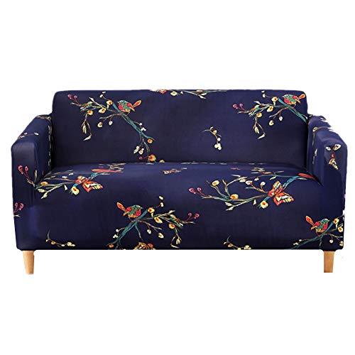 HAODEE Funda De Sofá Protectores Multifuncionales del Sofá De La Cubierta Maravillosamente del Sofá para Las Mascotas De La Sala De Estar 90-140,Navy Blue