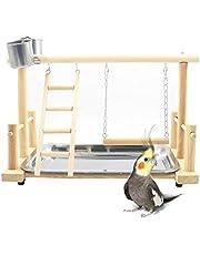 Papegaai Speelstand Vogel Speeltuin Hout Baars Gym Stand Box Ladder met Speelgoed Oefening Spelen Gym voor Conure Lovebirds