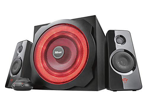 Trust Gaming GXT 4628 Thunder - Set de Altavoces 2.1 con subwoofer Iluminado, Color Negro