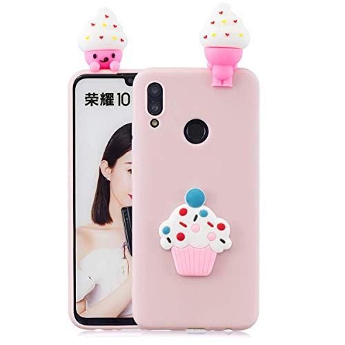 LAXIN Case for Huawei Honor 10 Lite, 3D Design Premium TPU Soft Silicone Gel Case with Cute Panda Pattern Flexible Protective Skin Cover for Huawei Honor 10 Lite