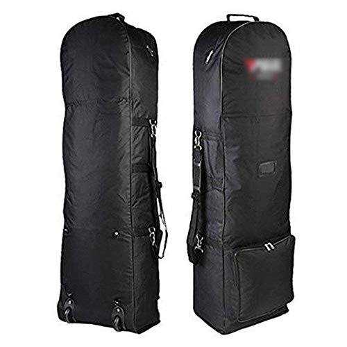 WLL 51,1 Zoll Tragbare, Faltbare Golf-Praxistasche mit großer Kapazität, verschleiß- und faltenbeständig, Gute Verarbeitung, geeignet für Reisen im Freien, schwarz