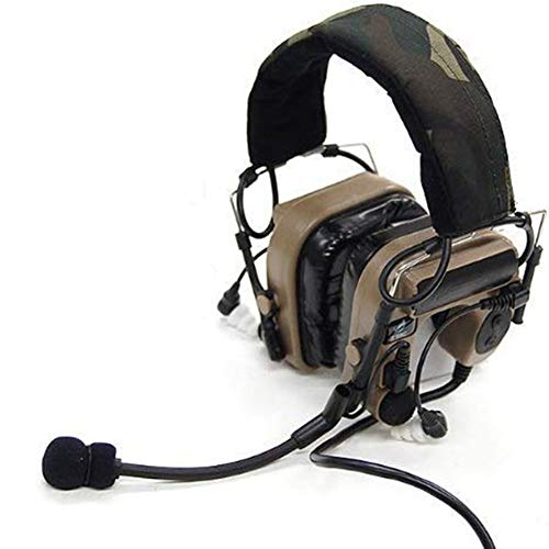 Z-TAC Z-Tactical Military Microphone Comtac IV in-The-Ear Headset Tactical Adjustable Headset Fit All PTT Plug,Tactical Headphones,Anti Noise Headphones,Outdoor Headphones,walkie Talkie, Wargame-DE
