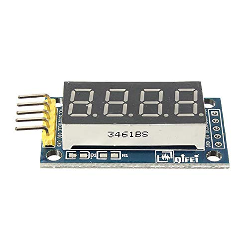 Elektronisches Modul 42x24x12mm 4 Bits digital Rohr LED-Anzeige-Modul-Brett for A-r-d-u-i-n-o - Produkte, dass die Arbeit mit den offiziellen A-r-d-u-i-n-o-Boards 5Pcs