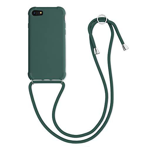 kwmobile Cover a Tracolla Compatibile con Apple iPhone 7/8 / SE (2020) - Back Case in TPU Cover con Laccio per Il Collo - Custodia con Cordino