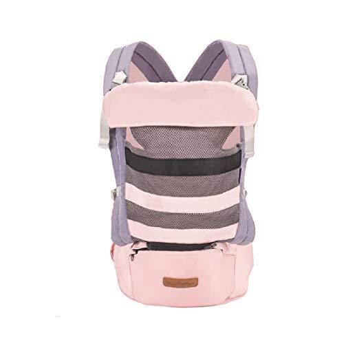 ZXB Babytrage weich und atmungsaktiv Baby-Riemen Für Neugeborene Ergonomische 3-In-1 Vorderseite Rückseite Wrap Kleinkinder,Pink-OneSize