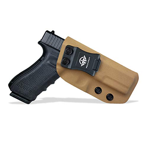 IWB Tactical KYDEX Pistolenholster Für: Glock 17 22 31 Pistolenhalfter Hängend Verdeckte/Versteckte Pistole Case Waffenholster (Tan, Right Hand Draw (IWB))