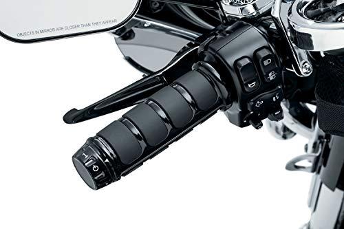 Kuryakyn 6781 Motorcycle Handlebar Accessory: ISO Grips for Harley-Davison Motorcycles with Heated Grips, Gloss Black, 1 Pair