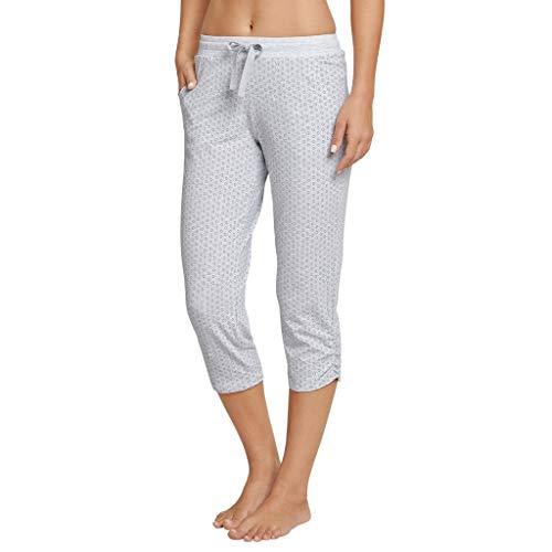Schiesser Damen Mix & Relax Jerseyhose 3/4 lang Schlafanzughose, Grau (Grau-Mel. 202), 34 (Herstellergröße: 034)