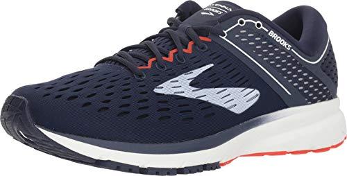 Brooks Men's Ravenna 9 Road Running Shoes Navy/White/Orange - 8D
