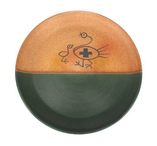 Farang thailandais plaques en ceramique - conception primitive - de grande taille, la main-OISEAUX decorees