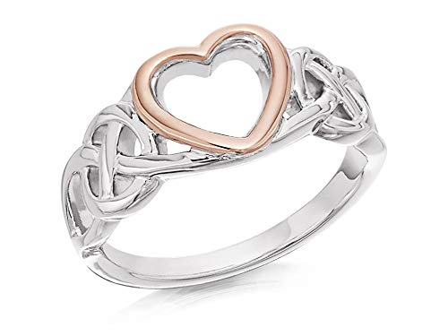 Clogau Women Ladies Jewellery Silver 9Ct Rose Gold Welsh Royalty Ring Gift - O