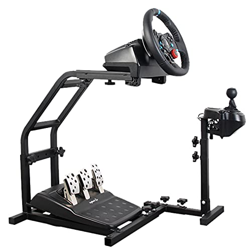 Hottoby Racing Wheel Stand with Pro Shifter Mount for Logitech G29/G27/G25/G923 Support PC/Xbox/PS4 Driving Simulator Steering Wheel Stand (Without Wheel and Pedals)