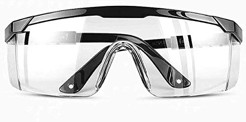 Safety Glasses, Protective Eyewear Safety Goggles with Adjustable Temples Design Fit Most People