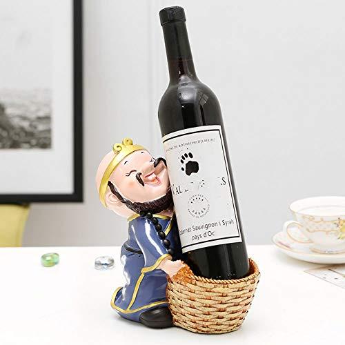 LYLSXY Estantes de Vino, Personalidad Oriental Occidental Muebles para el Hogar Estante de Vino Vino Sala de Estar Gabinete de Vino Decoración Estante de la Botella,B