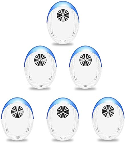 Pest Repellent Ultrasonic Plug in Mosquito Repellent Indoor, 6 Pack Repeller for Rodent, Mouse, Cockroaches, Rat, Ants, Spiders, Mice, Fleas and Flies