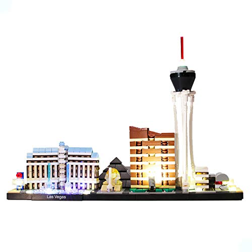 HZQM LED Light Kit for Architecture Skyline Collection Las Vegas  Compatible with Lego 21047 Building Model Lego Set Not Included