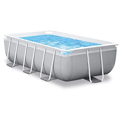 WN-PZF Garten-Pool, Rechteckigen Pool Set Röhrchenrack Planschbecken Kinder Familie Schwimmen Eindickung Mit Filterpumpe, Escalator 118X69x31 Inch
