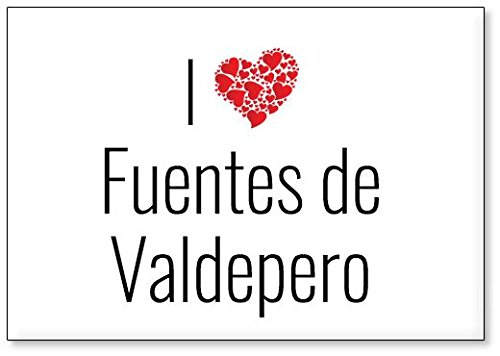 Mundus Souvenirs - Amo Fuentes de Valdepero, Imán para Nevera (diseño 2)