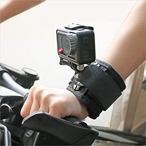 360 Degree Rotating Wrist Strap Mount Arm Mount Strap Compatible with GoPro Hero 8/7/6/5 Black,Wrist Strap Band Holder Cycling Mount for DJI Osmo Action,Xiaomi Yi and More