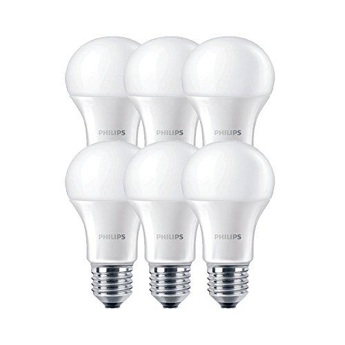 Philips Lampada a LED E27, 11 W, Bianco, 6 unità