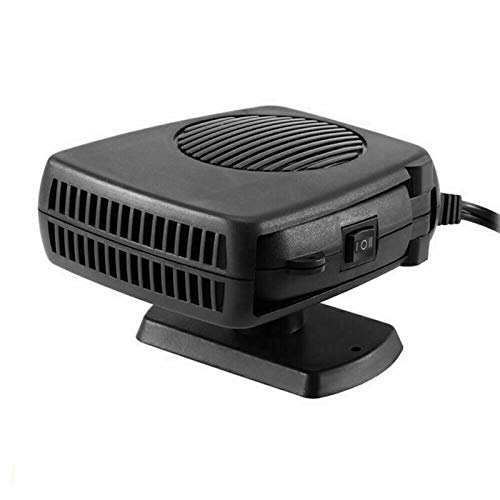 12V Car Heater, 200W 2 in 1 Portable Car Fans with Heating & Cooling Function, Plug in Cigarette Lighter, Fast Heating 360 Degree Rotary Defroster Defogger (Black)