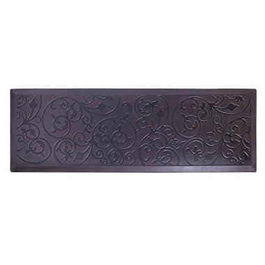 AMCOMFY Kitchen Anti Fatigue Mat,Comfort Floor Mats,Standing Mats,Antique Series (24 x70 x3/4 , Antique Dark)