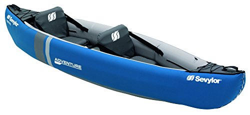 Sevylor Kayak Gonflable Adventure, Canoë Canadien 2 Places, Kayak de Mer, 314 x 88 cm