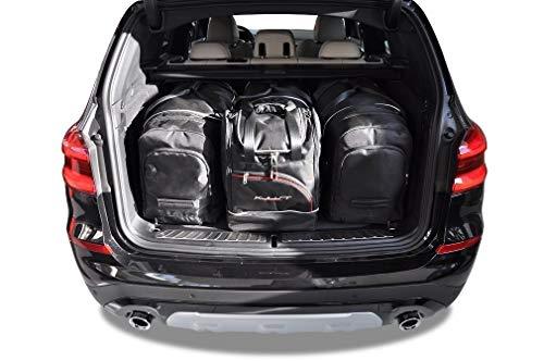 KJUST Dedizierte Kofferraumtaschen 4 STK Set kompatibel mit BMW X3 G01 2017 -
