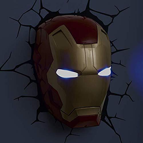 3D Wandleuchte Iron Man Helm Avengers 4 Neuheit Wandleuchte 36 V