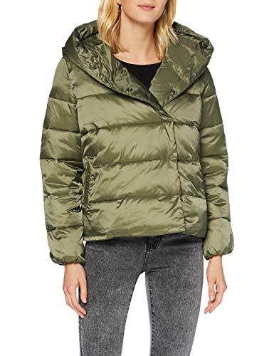 Herrlicher Damen Tamsin Short Shiny Nylon Jacke, Olive 124, M