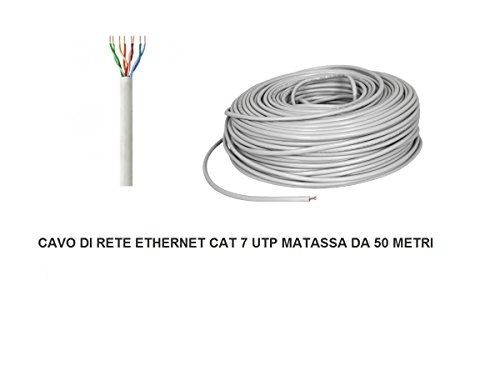 MATASSA 50 meter lattenbodem kabel UTP CAT 7 LAN ETHERNET M BOBINA INTERNET ADSL PLUG MODEM ROUTER ACCESS POINT REAPETER CAT7