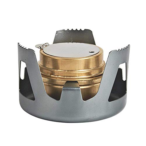 Famgee Outdoor Mini Portable Alcohol Stove Burner for Backpacking Hiking Camping Survival (Grey)