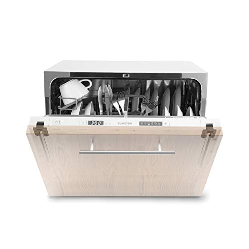 Klarstein Amazonia 6 Secret - Spülmaschine, Geschirrspüler, Einbau, vollintegriert, A+, 174 kWh/Jahr, 55 cm breit, 6 Maßgedecke, 6 Programme, Aquastop