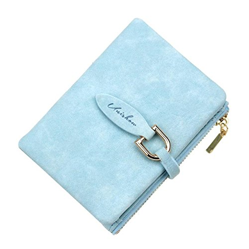 Unishow - Monedero para Mujer, diseño Vintage, Color Mate, Azul Claro (Azul) - DTUKWWl1AE684-3