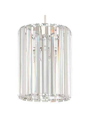 Saint Mossi Crystal Glass Strip hanglamp, eenvoudig te monteren Crystal Glass Strip plafondlamp [energieklasse A +]