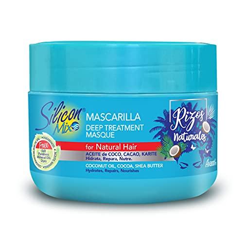Silicon Mix Rizos Naturales Deep Treatment Masque 225g - Masque Pour Cheveux Bouclé, Ondulé et Crépus- Hydrate, Nourrit, Répare