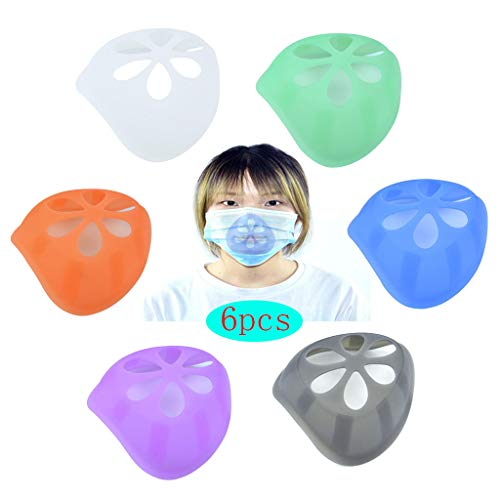 Silicone Masque 3D Support - Cool Rouge à Lèvres Protection Stand - Masque Nasal Pad - 6pcs