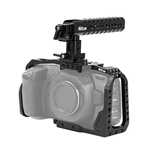 Nitze Blackmagic Pocket Cinema Camera 4K用BMPCCカメラ専用ケージ NATOトップハンドル付 BHT01