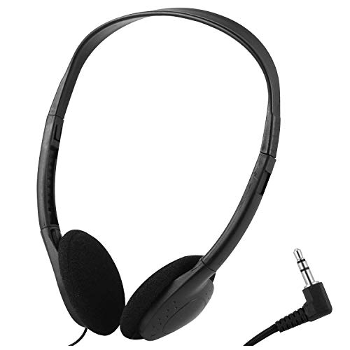 Wholesale Kids Headphones in Bulk 25 Pack for School Classroom Students Children and Adults - Black