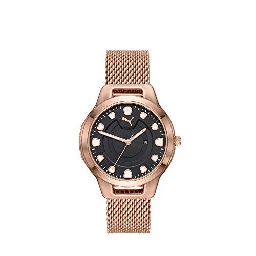 Puma Damen-Uhren Analog Quarz One Size Rosé Edelstahl 32012498
