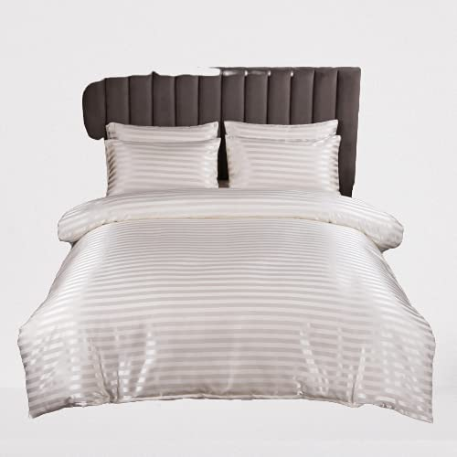 Ropa De Cama, Textiles para El Hogar, Funda Nórdica A Rayas Simple, Elegante, Duradera Y Fácil De Limpiar 230x260cm
