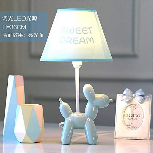 YU-K Balloon dog réglable lampe de table à LED lampe de chevet chambre à coucher confortable romantique créatifs lampes pour chambre d'enfant, 19 * 35cm, gris