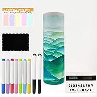 海と山スタイルペンケースnewmebox DIY学用品NBX鉛筆ボックス筆箱、青と緑の文房具,自然界,中国