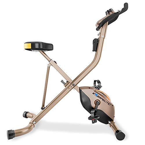 Product Image 2: Exerpeutic Gold Heavy Duty Foldable Exercise Bike with 400 lbs Weight Capacity