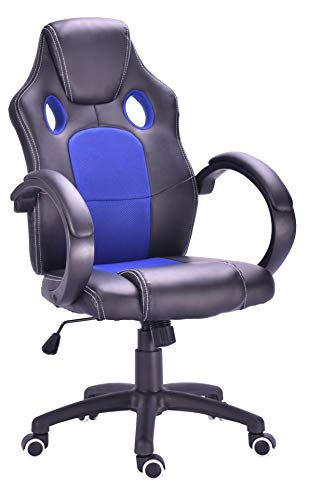 Millhouse New Designed Racing Sport Swivel with Back Support Office Gaming Chair X2710S (Blue-Black)