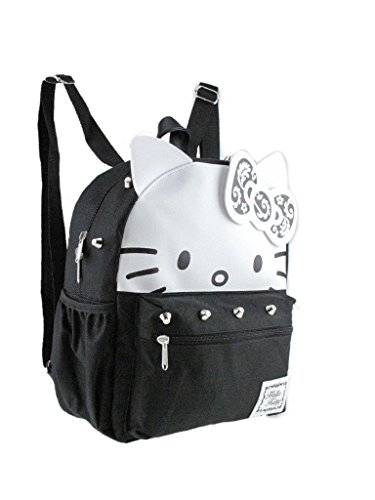 Licensed 3D Hello Kitty 12' Silver Stud Small/Mini Backpack