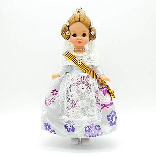 Folk Artesanía Muñeca Sintra 42 cm Similar Nancy. Vestido típico Valenciana o Fallera