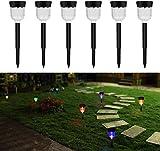 Solar Lights Outdoor Pack de 6 Lampes solaires d'extérieur pour éclairage...
