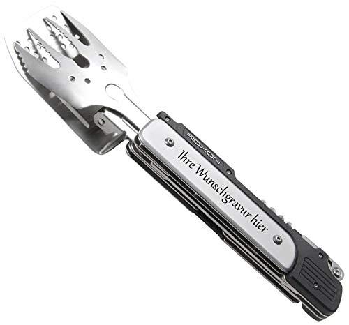 Roxon Grillbesteck (BBQ Tool) 6 in 1 mit persönlicher Gravur