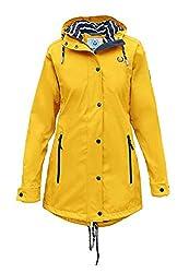 MADSea Damen Regenmantel Friesennerz gelb wasserdicht, Farbe:gelb, Größe:40